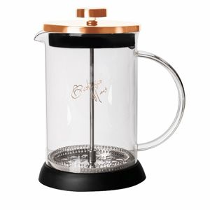 Konvička na čaj a kávu French Press 600 ml Rosegold collection BERLINGERHAUS BH-1494