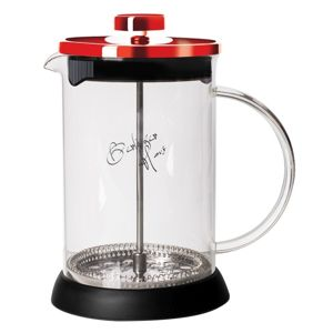 Konvička na čaj a kávu French Press 600 ml  Burgundy Metallic Line BERLINGERHAUS BH-1497