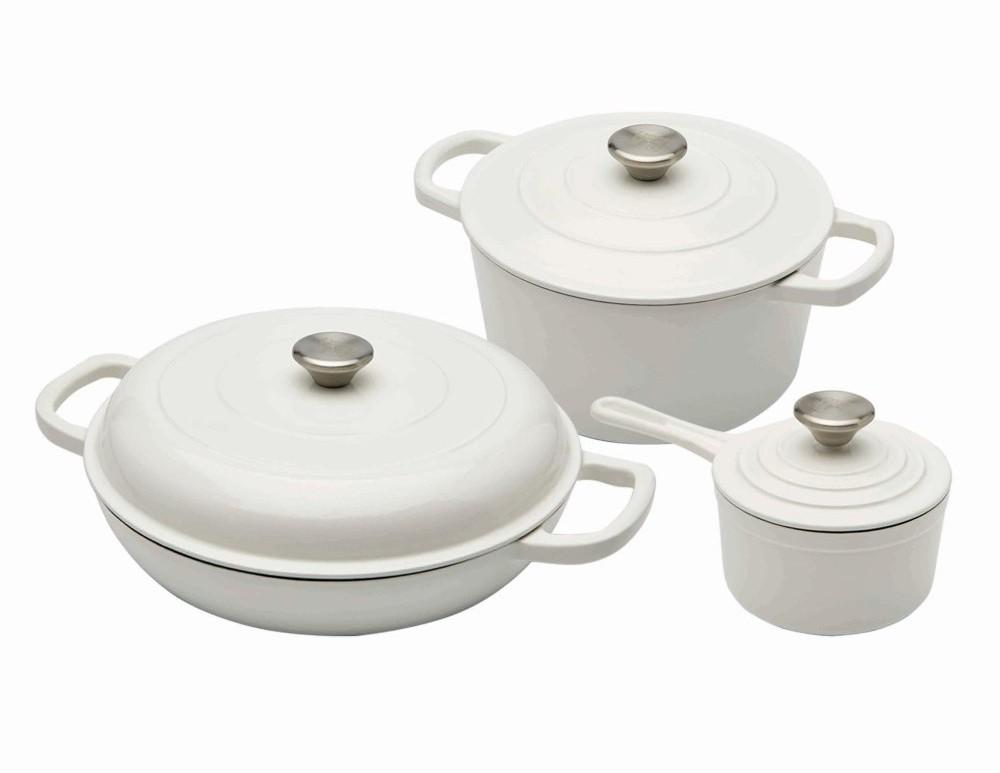 Sada nádobí litinová 6 ks bílá XANTEN