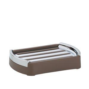 Mýdlenka MARTA plastik šedohnědá L 12,5cm x W 9cm x H 2,5cm