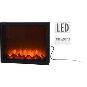 Elektrický krb s LED plameny 41x25cm