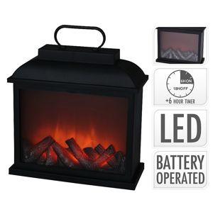 Elektrický krb s LED plameny 30 x 30 cm