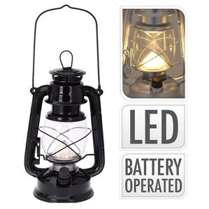 Lucerna s LED žárovkou 24 cm černá