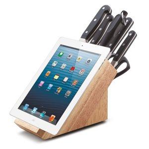 Sada nožů vbloku s držákem na tablet 8 ks PREMIUM