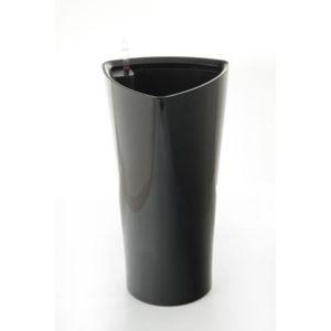 Samozavlažovací květináč Trio černý 29.5 cm