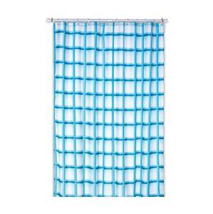 Sprchový závěs LANETA, 100%PES, 180x200cm, tyrkys