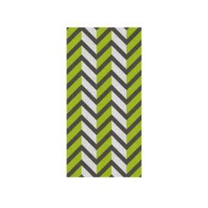 Osuška LADESSA, 100% bavlna, zelená 70x140cm šipky
