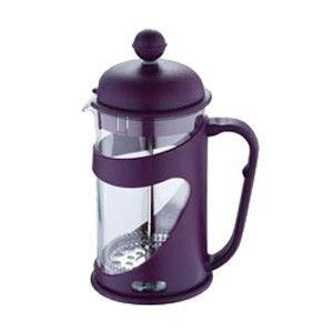 Konvička na čaj a kávu French Press 600 ml fialová