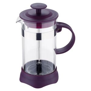 Konvička na čaj a kávu French Press 800 ml fialová